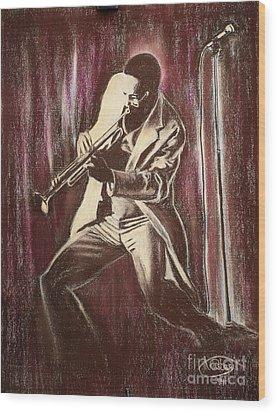 Jazz Wood Print by Anastasis  Anastasi