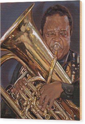 Jazz Legend- Howard Johnson Wood Print by Larry Seiler