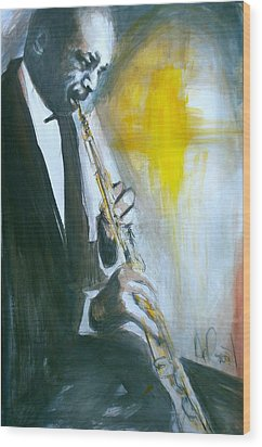 Jazz Preparation Wood Print by Gregory DeGroat