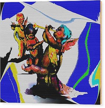 Jazz Trio At The Cloud Bar Wood Print by Merlin Neff