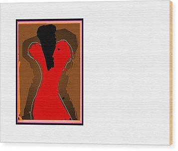 Jazzy Lady Wood Print by Derek M A Alexander