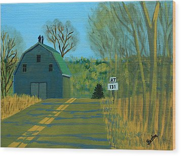Jct 131 Wood Print by Laurie Breton