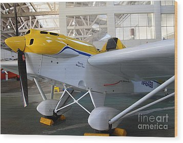 Jdt Mini Max 1600r . Eros . Single Engine Propeller Kit Airplane . 7d11169 Wood Print by Wingsdomain Art and Photography