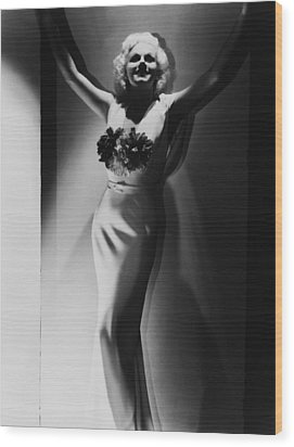 Jean Harlow, 1935 Wood Print by Everett
