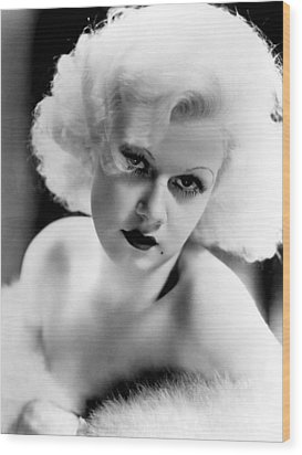 Jean Harlow, Ca. 1932-33 Wood Print by Everett