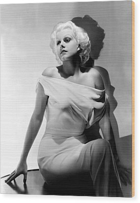 Jean Harlow Wood Print by Everett