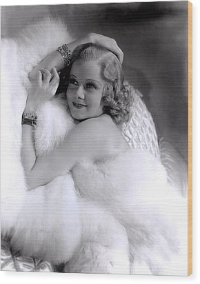 Jean Harlow, Mgm, 1930s Wood Print by Everett