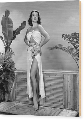 Jean Peters, Ca. Early 1950s Wood Print by Everett