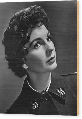 Jean Simmons, Ca. 1950s Wood Print by Everett