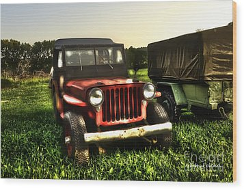 Jeep Seen Better Days Wood Print by Dan Friend
