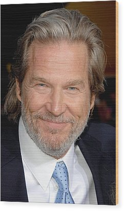 Jeff Bridges At Arrivals For Premiere Wood Print by Everett