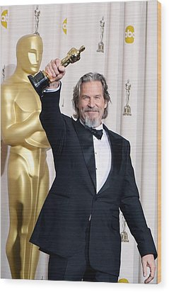 Jeff Bridges, Best Actor For Crazy Wood Print by Everett