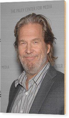 Jeff Bridges In Attendance For American Wood Print by Everett