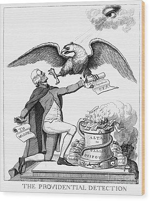 Jefferson: Cartoon, 1800 Wood Print by Granger
