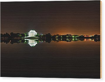 Jefferson Memorial Before Sunrise 1 Wood Print by Val Black Russian Tourchin