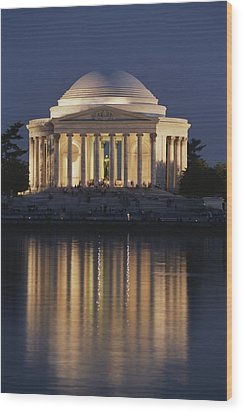 Jefferson Memorial, Night View Wood Print by Richard Nowitz
