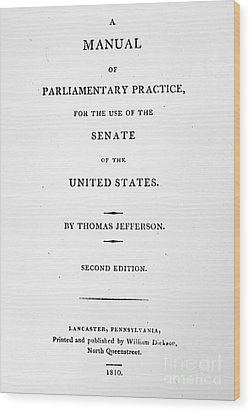 Jefferson: Title Page, 1810 Wood Print by Granger