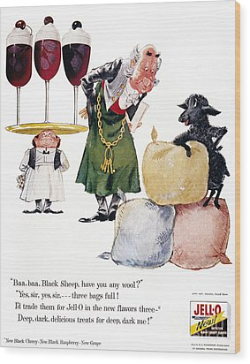 Jell-o Advertisement, 1957 Wood Print by Granger