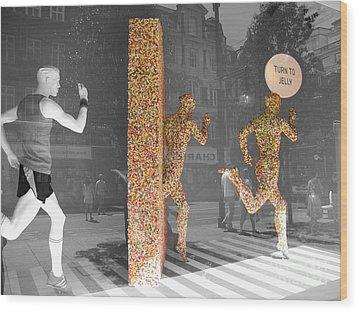 Jelly Beings Wood Print by Stav Stavit Zagron