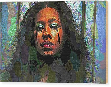 Wood Print featuring the photograph Jemai by Alice Gipson