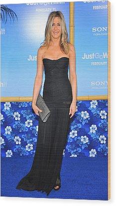Jennifer Aniston Wearing A Dolce Wood Print by Everett