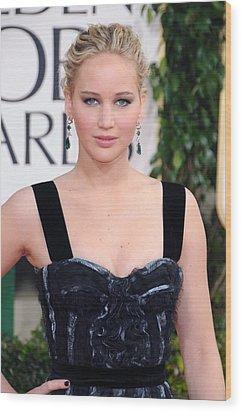 Jennifer Lawrence Wearing A Louis Wood Print by Everett
