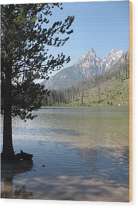 Wood Print featuring the photograph Jenny Lake And The Beauty Of The Grand Tetons by Shawn Hughes