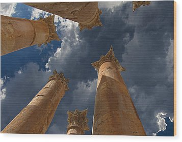 Wood Print featuring the photograph Jerash by David Gleeson