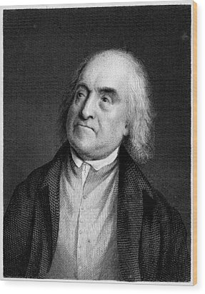 Jeremy Bentham, English Social Reformer Wood Print by Middle Temple Library