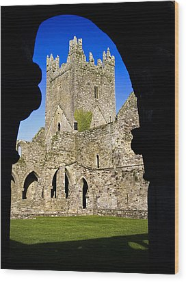 Jerpoint Abbey In Kilkenny Wood Print by Chris Hill