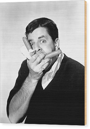Jerry Lewis, Portrait Wood Print by Everett