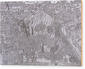 Jerusalem Iv Wood Print by Yuriy Mkhitaryants
