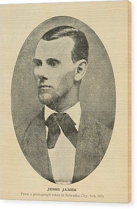 Jesse James 1847-1882 Wood Print by Everett