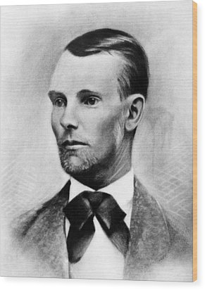 Jesse James, The Western Outlaw Wood Print by Everett