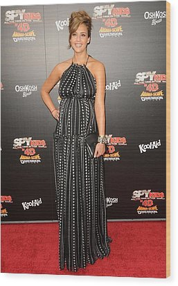 Jessica Alba Wearing A Dress By Dolce & Wood Print
