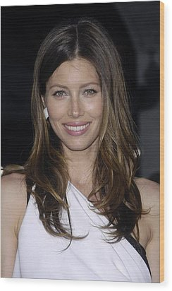 Jessica Biel At Arrivals For The A-team Wood Print by Everett