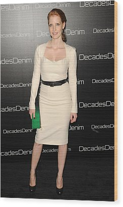 Jessica Chastain At Arrivals Wood Print by Everett