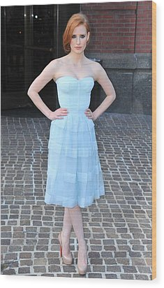 Jessica Chastain Wearing A Christian Wood Print by Everett