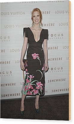 Jessica Chastain Wearing A Louis Wood Print by Everett
