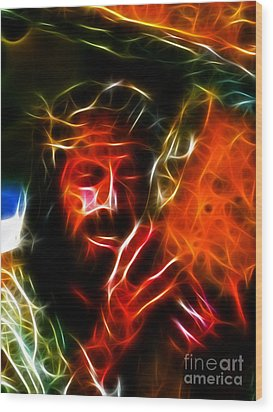 Jesus Carrying The Cross No2 Wood Print by Pamela Johnson