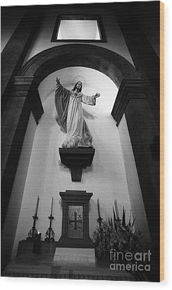 Jesus Christ Wood Print by Gaspar Avila
