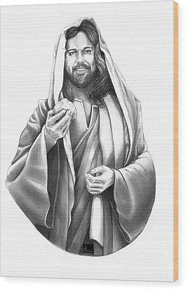 Jesus Christ Wood Print by Murphy Elliott
