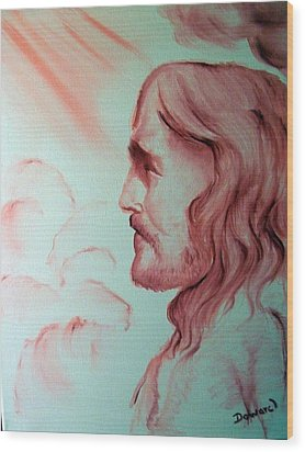 Jesus In His Glory Wood Print by Raymond Doward