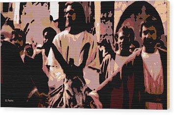 Jesus Rides Into Jerusalem Wood Print by George Pedro