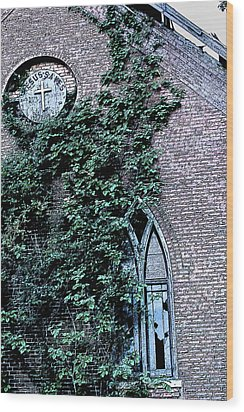 Wood Print featuring the photograph Jesus Saves...just Not This Church by John Crothers