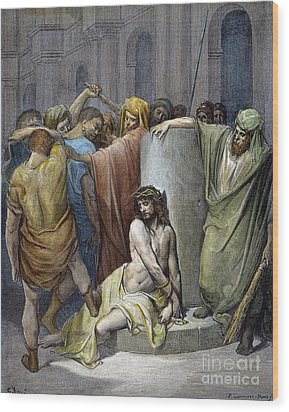 Jesus: Scourging Wood Print by Granger