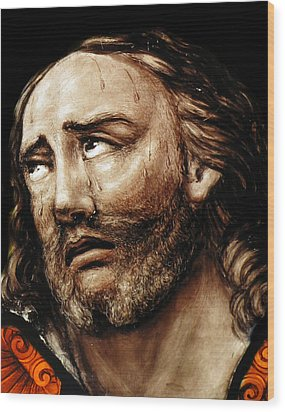 Jesus Tears Wood Print by Munir Alawi
