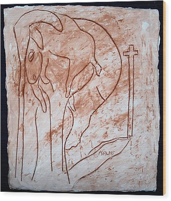 Jesus The Good Shepherd - Tile Wood Print by Gloria Ssali
