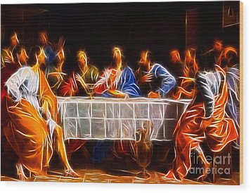 Jesus The Last Supper Wood Print by Pamela Johnson