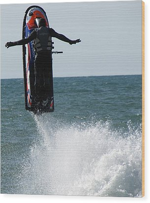 Wood Print featuring the photograph Jet Ski by John Crothers